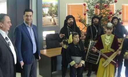 Τα κάλαντα  των Χριστουγέννων έψαλλαν στο Δήμαρχο Αγρινίου