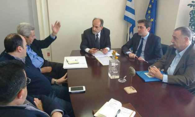 Συνάντηση Απ. Κατσιφάρα με τους τρεις προέδρους των Επιμελητηρίων