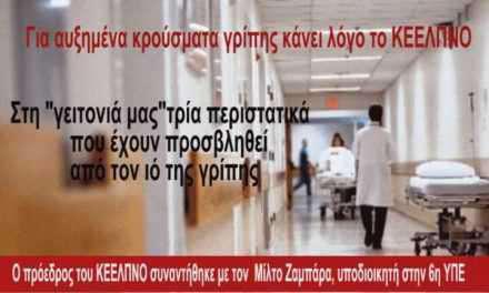 Σοβαρά κρούσματα εργαστηριακά επιβεβαιωμένης γρίπης!