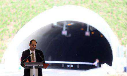 Η ομιλία του Υπουργού  στην τελετή παράδοσης στην κυκλοφορία του τμήματος της Ιόνιας Οδού, Κλόκοβα-Κεφαλόβρυσο.