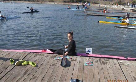 H  Πέπη Ντρε του Ν.O.M στην αποστολή της εθνικής ομάδας canoe kayak sprint στην Ουγγαρία