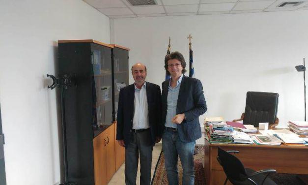 Συνάντηση του γραμματέα των ανεξάρτητων ελλήνων Ευθ.Δρόσου με τον γενικό γραμματέα δια βίου μάθησης και νέας γενιάς Π.Παπαγεωργίου