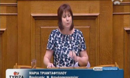 Μ. Τριανταφύλλου: Ομιλία στο νομοσχέδιο για την «Οργάνωση και λειτουργία της ανωτάτης εκπαίδευσης.» (video)