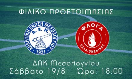 Δεύτερο φιλικό για την AEM FC κόντρα στην Φλόγα Παλαιομάνινας στις 5.30 και όχι 6μμ
