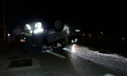 Αγρίνιο-τώρα: Αναποδογύρισε αυτοκίνητο στην εθνική οδό στο ύψος της Αμαλίας (ΒΙΝΤΕΟ-ΦΩΤΟ)
