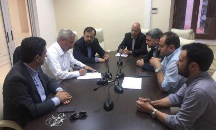 Συνάντηση του  Γ. Μανιάτη με τον πρόεδρο και μέλη του ΤΕΕ Αιτωλ/νίας