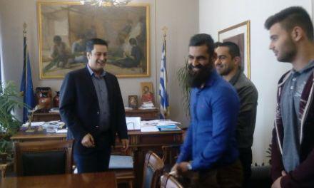 Ο Δήμαρχος Αγρινίου  συναντήθηκε με τους Πρωταθλητές Ευρώπης στο Παγκράτιο, αθλητές του Γ.Σ. Ηρακλή Αγρινίου