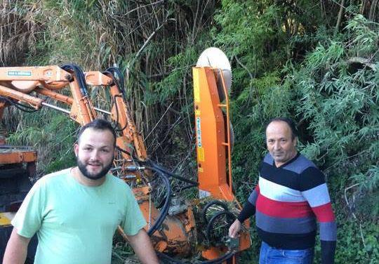 Εργασίες καθαρισμού αγροτικών δρόμων στο τοπικό διαμέρισμα Σταμνάς