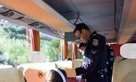 Νέο μπλόκο σε λεωφορείο-Συλλήψεις δύο ατόμων