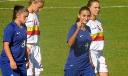 Για πρώτη φορά αθλήτρια της γυναικείας ομάδας ποδοσφαίρου Μεσολόγγι 2008 στην Εθνική Ελλάδος Γυναικών
