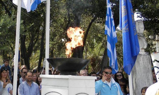 Διαδρομή της Ολυμπιακής Φλόγας στην Ι. Π. Μεσολογγίου – Τελετή Υποδοχής στον Κήπο των Ηρώων