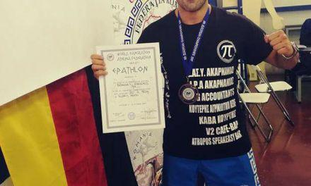 Ο Αγρινιώτης αστυνομικός Ν. Μπανιάς 3ος στο Πανευρωπαϊκό Πρωτάθλημα Παγκρατίου-Υπερήφανοι οι συνάδελφοί του!