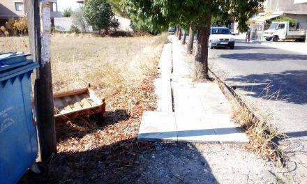 """Αγρίνιο: Tραυματισμός 80χρονης από πτώση -Καταγγελίες για """"φονικά"""" πεζοδρόμια!(βίντεο-φωτο)"""