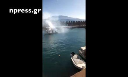 Ναύπακτος: Το συγκινητικό αντίο στον Παλιάτσα με την βάρκα του να τον αποχαιρετάει στο λιμάνι(video)