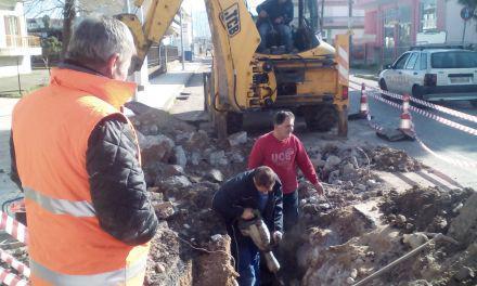 Έκτακτη βλάβη στο δίκτυο ύδρευσης στο Μεσολόγγι