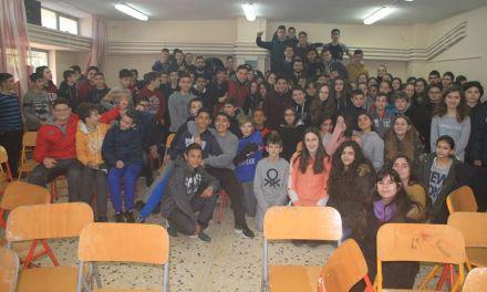 ΑΟ Αγρινίου/Επίσκεψη στο 2ο Γυμνάσιο Αγρινίου