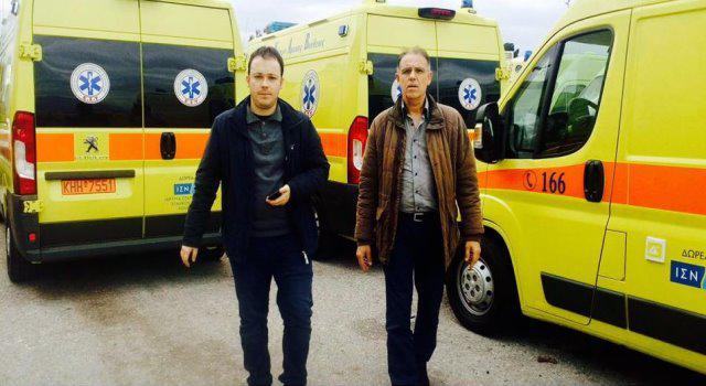 Δέκα νέα ασθενοφόρα δωρήθηκαν στο ΕΚΑΒ για την κάλυψη Αιτ/νίας-Αχαίας και Ηλείας
