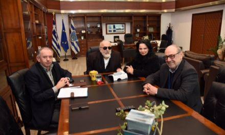 Συνάντηση Κουρουμπλή με τον Δήμαρχο Ναυπάκτου και στελέχη της ΔΕΥΑΝ