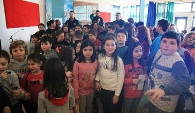 Ο ΑΟ Αγρινίου δίπλα στους μαθητές-Επίσκεψη στο 16ο Δημοτικό Σχολείο Αγρινίου