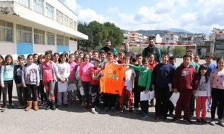 Ο ΑΟ Αγρινίου στο 1ο Δημοτικό Σχολείο Αγίου Κωνσταντίνου