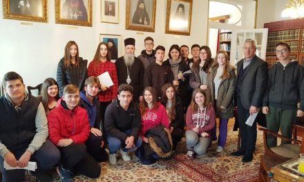 Συζήτηση μαθητών του 1ου Λυκείου Ναυπάκτου με τον Μητροπολίτη στο Επισκοπείο