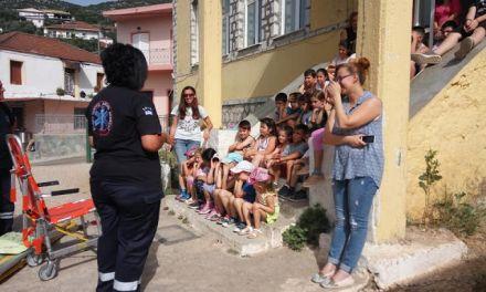 Παρουσίαση πρώτων βοηθειών από το ΕΚΑΒ Αγρινίου στο Δημοτικό Σχολείο Αετού Ξηρομέρου