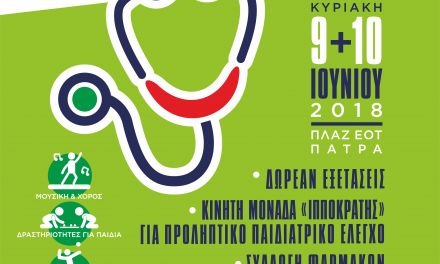 Το πρόγραμμα του 3ου Φεστιβάλ Υγείας  Δυτικής Ελλάδας.