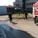 Καθαρισμός και απολύμανση της Πυροσβεστικής Αγρινίου στο παλαιό Νοσοκομείο.