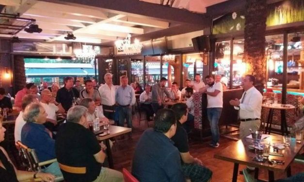 Συνάντηση του Δ. Κωνσταντόπουλου  με φίλους ετεροδημότες από την Αιτωλ/νία στο Περιστέρι