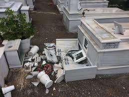Kαταστροφές στο Χρυσοβέργι σε λιοστάσια ακόμη και στο κοιμητήριο από το μπουρίνι