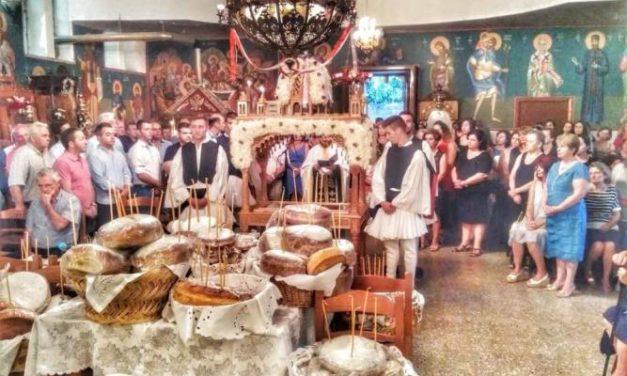 Mε λαμπρότητα εορτάστηκε η  Κοίμηση της Θεοτόκου, στον Ι.Ν της Παναγίας Κερασοβίτισσας