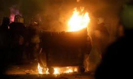 Έκαψαν κάδους στο Πάρκο Αγρινίου χθες το βράδυ