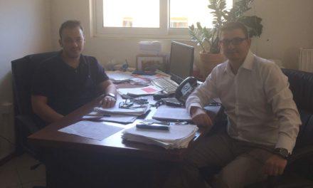 Συνάντηση  Ζαμπάρα με Τριανταφυλλάκη για το Κ.Υ. Αστακού